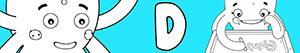 kolorowanki Imiona dla Dziewczynek na litere D