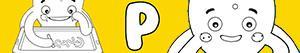 kolorowanki Imiona dla Chłopców na litere P