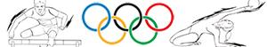 kolorowanki Sportów olimpijskich. Lekkoatletyka. Gimnastyka. Wielobój sport